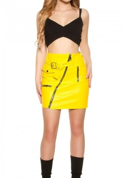 ooKouCla_leatherlook_mini_skirt_zipsbelt__Color_YELLOW_Size_S_0000H0396_GELB_3