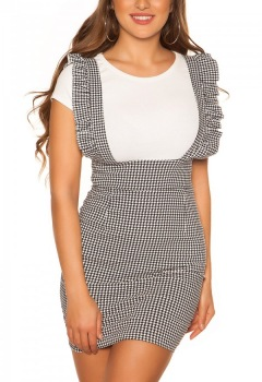 ttstrap_skirt_with_ruffles_houndstooth_pattern__Color_BLACKWHITE_Size_L_0000R18038_SCHWARZWEISS_1